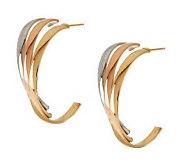 As Is Polished Triple Illusion Hoop Earrings, 14K Gold - J286809