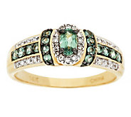 0.50 ct tw Alexandrite & 1/8 ct tw Diamond Ring 14K Gold - J287909