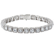 Judith Ripka Sterling 118 Facet Diamonique Large Bracelet - J288609
