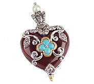 Barbara Bixby Sterling & 18K Multi-Gemstone Heart Enhancer - J292509
