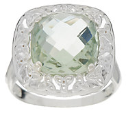 JMH Jewellery Sterling and Green Amethyst Ring - J295109