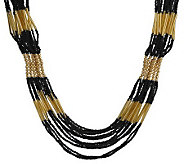 Multi-Strand Seed Bead Goldtone Necklace by Gar old Miller - J300509