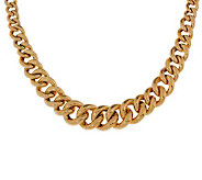 Arte dOro Graduated Curb Link Necklace, 18K, 45.50g - J300609