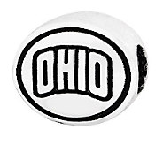 Sterling Silver Ohio University Bead - J300809