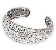Novica Artisan Crafted Sterling Sweet JasmineCuff - J303909