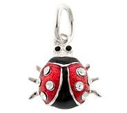Mixers Sterling Enamel & Crystal Ladybug Pendant - J304709