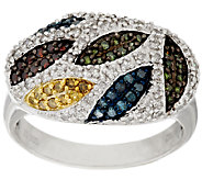 Multi-Color Diamond Ring, Sterling, 8/10 cttw, by Affinity - J318509