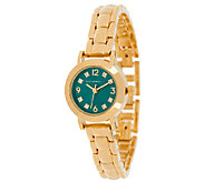 Isaac Mizrahi Live! Mini Colored Dial Bracelet Watch - J321209