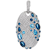 Judith Ripka Sterling Scattered Blue Topaz Enhancer - J322509