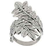 Sterling Silver Leaf Design Bypass Ring by Or Paz - J322609