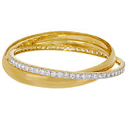 Bronze Polished & Crystal Rolling Bangle Bracelets by Bronzo Italia - J322809