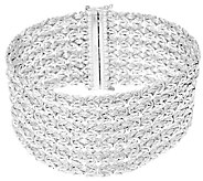 As Is Sterling 7-1/4 Wide Byzantine Bracelet by Silver Style - J326209