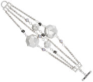 As Is Michael Dawkins Sterling Faceted Disk Chain Bracelet - J328309