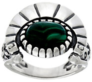 Fritz Casuse Sterling Silver & Malachite Harvest Moon Ring - J329409