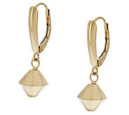 As Is EternaGold Diamond Shape Drop Lever Back Earrings, 14K - J331309