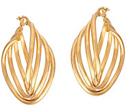 As Is Veronese 18K Clad Multi-Hoop Earrings - J331409