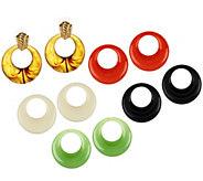 As Is Joan Rivers 5 Color Changeable Doorknocker Earrings - J332809