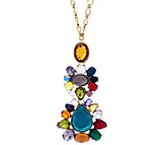 LOGO Links by Lori Goldstein Mosaic Pendant Necklace - J332909