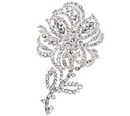 Joan Rivers Pave Crystal Flower Brooch with Removable Stem - J333509