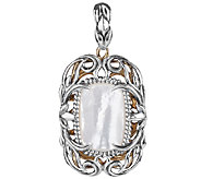 Carolyn Pollack Sterling & Brass Locket PendantEnhancer - J338109