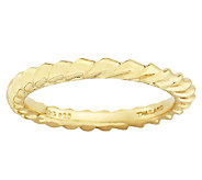 Simply Stacks Sterling & 18K Gold PlatedTwisted Ring - J338909