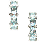 Judith Ripka Sterling 5.00cttw Blue Topaz 1 Ho op Earrings - J340809