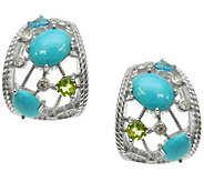 Judith Ripka Sterling & Multi-Gemstone Hoop Earrings - J342709