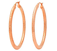 Steel by Design Stainless Steel Textured Hoop 2 Earrings - J342809