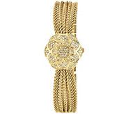 Anne Klein Womens Swarovski Crystal-Accented Watch - J342909