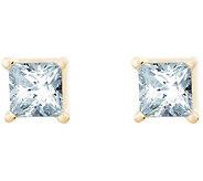 Princess Cut Diamond Studs, 14K Yellow, 1/2cttw, by Affinity - J345009