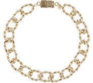 Vicenza Gold 6-3/4 Twisted Bracelet w/ Click Secure 14K, 4.9g - J345609