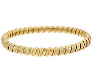 14K Gold Polished Ribbed Flexible Bangle - J346009