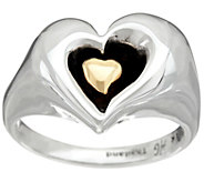 As Is Hagit Sterling Silver &14K Gold Heart Ring - J347609