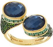Judith Ripka 14K Clad Blue Hematite Doublet & Gemstone Ring - J348009