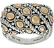 JAI Sterling Silver & 14K Gold Lotus Petal Bold Ring - J348709