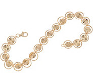 14K Gold 8 Diamond Cut Circle Bracelet 4.0g - J348909