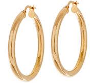 14K Gold 1 Polished Hoop Earrings - J350509