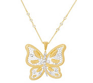 As Is Genesi 18K Clad Butterfly Enhancer with 18 Chain,27.0g - J351309