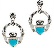 JMH Jewellery Sleeping Beauty Turquoise Sterling Silver Earrings - J351909