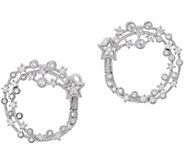 Judith Ripka Sterling Diamonique Shooting Star Hoop Earrings - J352309