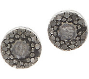 Black Diamond Stud Earrings, Sterling, 1/2 cttw, by Affinity - J352709