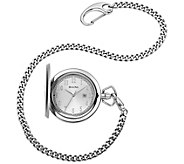 Bulova Mens Stainless Steel Pocket Watch withDate Window - J375109