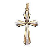 14K Gold Two-tone Cross Pendant - J108210