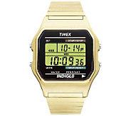 Timex Mens Digital Goldtone Expansion Band Bracelet Watch - J109010