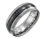Forza Mens 8mm Steel Polished Ring with CarbonFiber - J109510