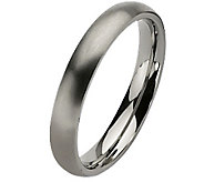 Titanium 4mm Brushed Ring - Unisex - J110010