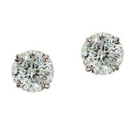 Diamonique 1.50 ct tw 100-Facet Stud Earrings,1 4K Gold - J110210