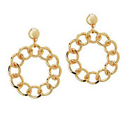 Linea by Louis DellOlio Curb Link Hoop Earrings - J267610