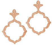Bronze Hammered Openwork Dangle Earrings by Bronzo Italia - J286410