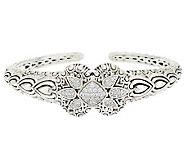 JAI Bali Lanna Sterling 0.50ct Diamonique Cuff Bracelet - J288710